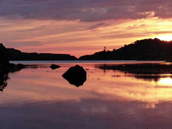 Sunset over loch Cuin